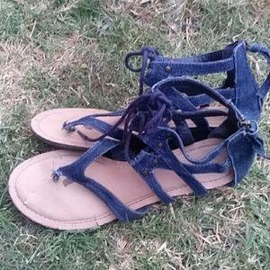 Denim sandals Daisy Fuentes size 8.5 m